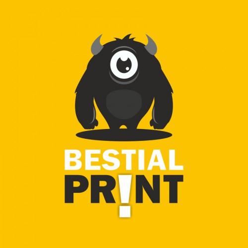 diseño logo bestial print