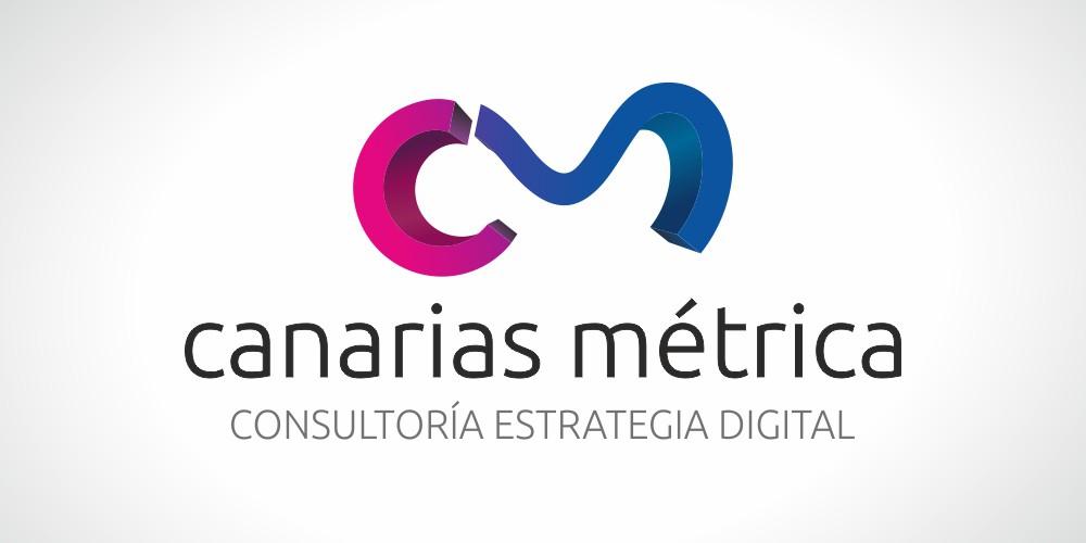 diseño logo canarias metrica