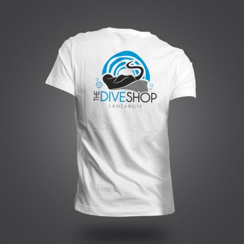 diseño logo the dive shop lanzarote