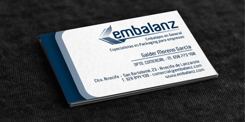diseño tarjeta embalanz