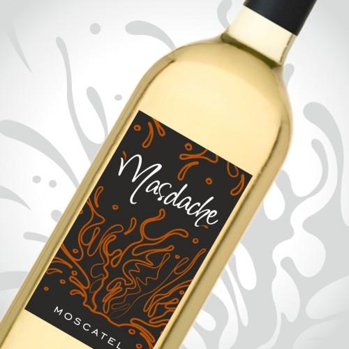 diseño etiqueta vino masdache