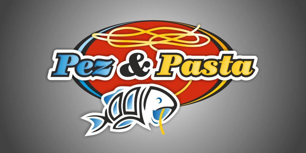 diseño logo pez y pasta