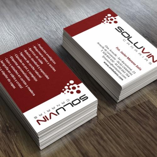 diseño tarjetas soluvin canarias