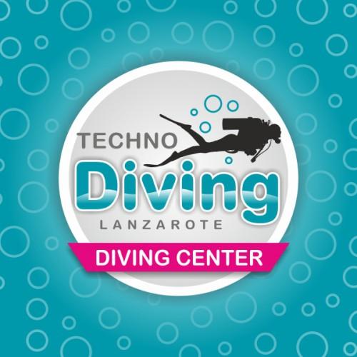 diseño logo techno diving lanzarote
