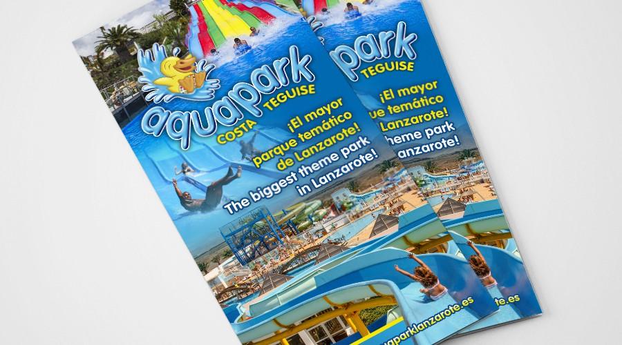 aquapark costa teguise diseño triptico - zona creatika 1