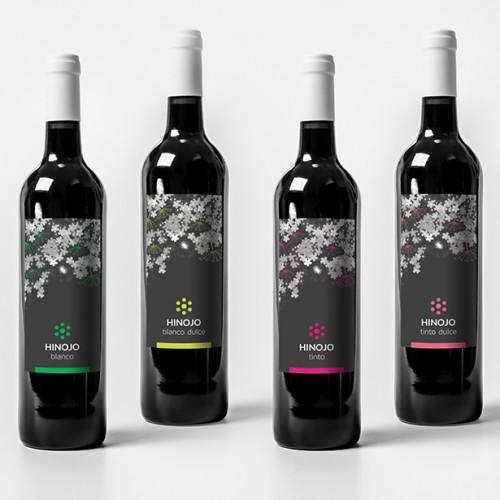 diseño packaging etiquetas Bodega Hinojo - zona creatika